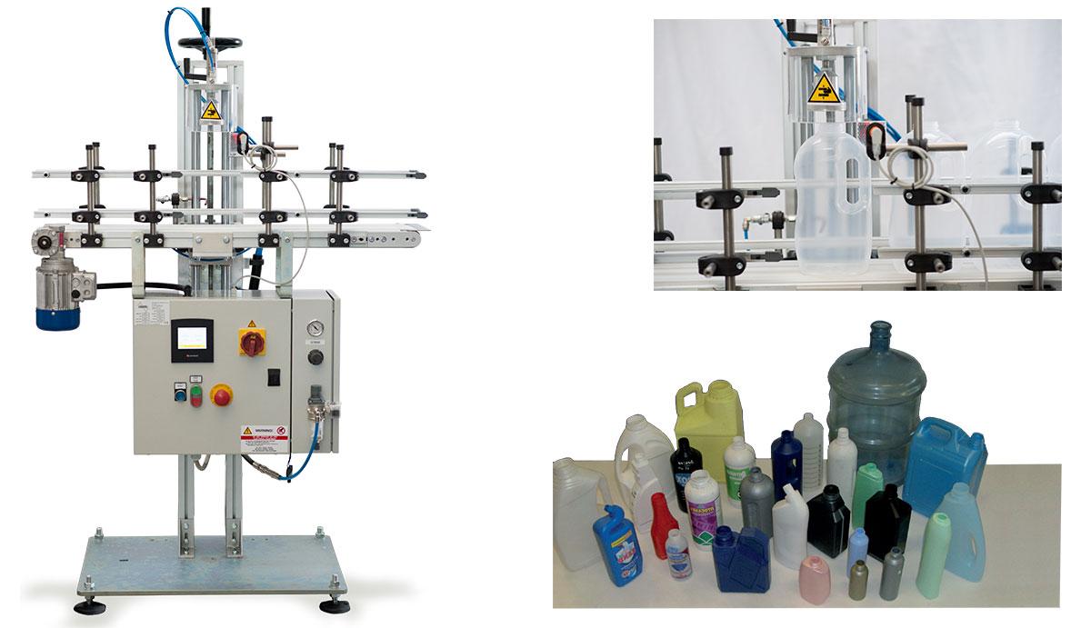 Sistema di prova tenuta flaconi lineari (per capacità da 0-220 lt)