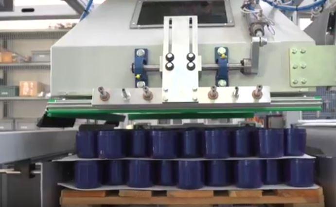 Pallettizzatore automatico per interfalde