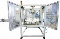 Sistema di prova tenuta flaconi rotativo ad intermittenza