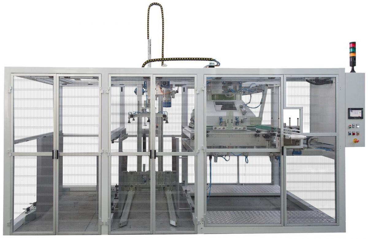 Pallettizzatore automatico per interfalde / vassoi