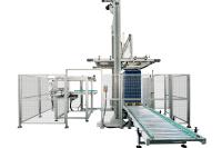 Pallettizzatore automatico per contenitori impilabili