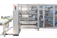 Automatic bagger machine for bottles